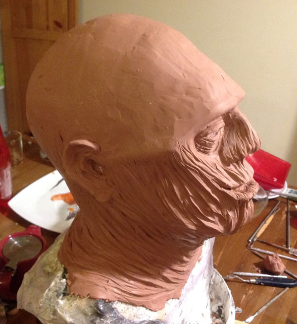 Sculpture momie en Chavant Momiep12