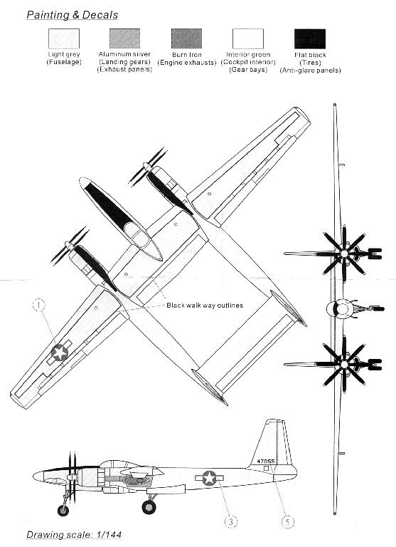 Hughes XF-11 (1/72, Anigrand) Hugues15