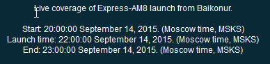 Lancement Proton-M / Ekspress AM8 - 14 septembre 2015 Lancem11