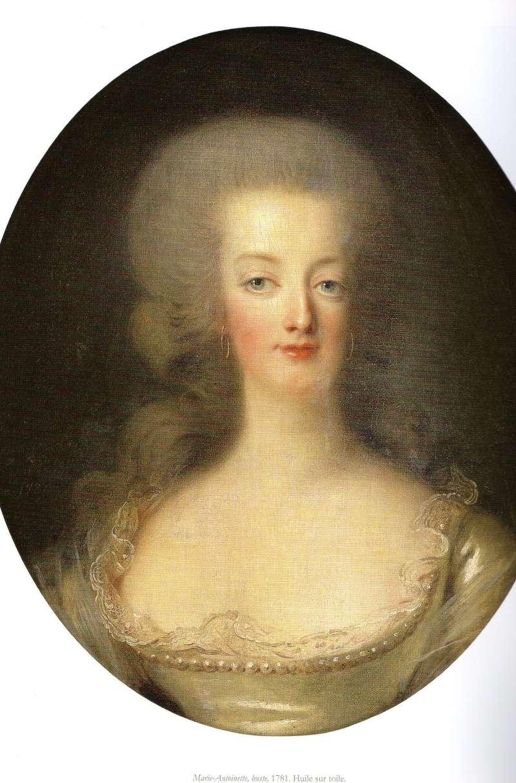 Portrait de Marie-Antoinette en buste par Vigée Le Brun (1781) Ma_evl11