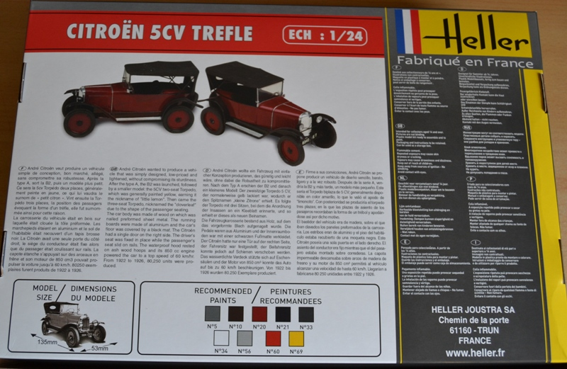 [HELLER] Citroën 5CV TREFLE 1/24e Dsc_0042