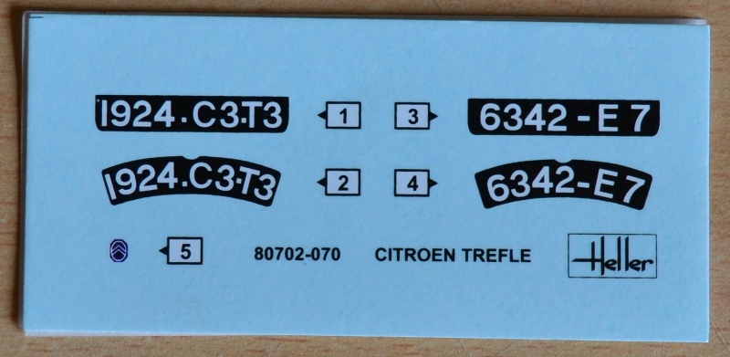 [HELLER] Citroën 5CV TREFLE 1/24e Dsc_0043
