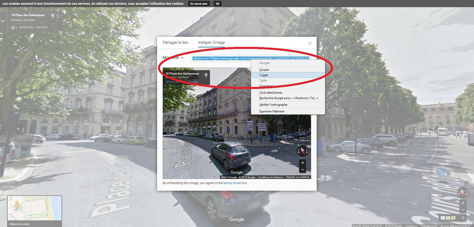 Comment intégrer sur une page une animation STREET VIEW ? Sans_224