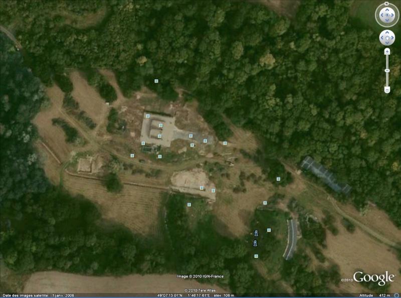 Antiquités romaines sous l'oeil de Google Earth Genain10