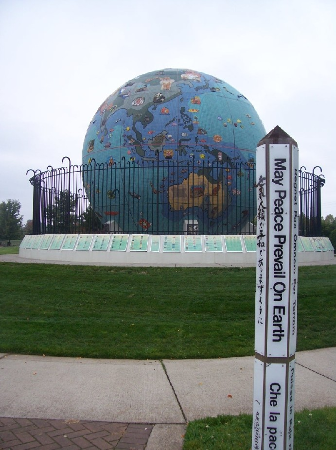Globes terrestres visibles depuis les cieux Terre10