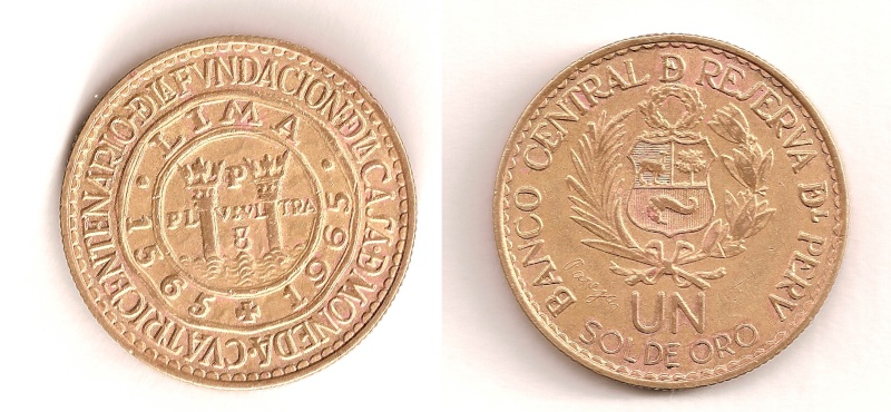 Moneda: 1 sol de oro (1965) Perú Peru_110