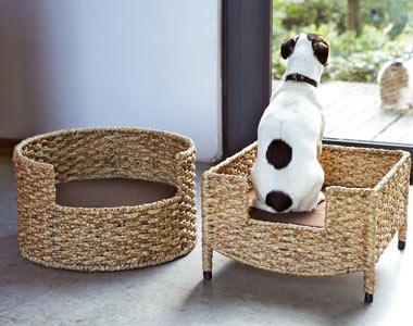 Paniers chat/chien en osier 20736p10