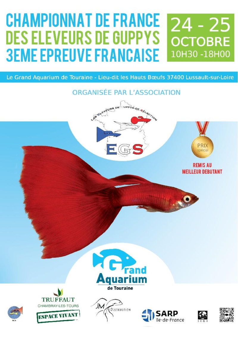 championnat de France de guppy au grand aquarium de Touraine les 24 & 25 octobre 2015 Affich10