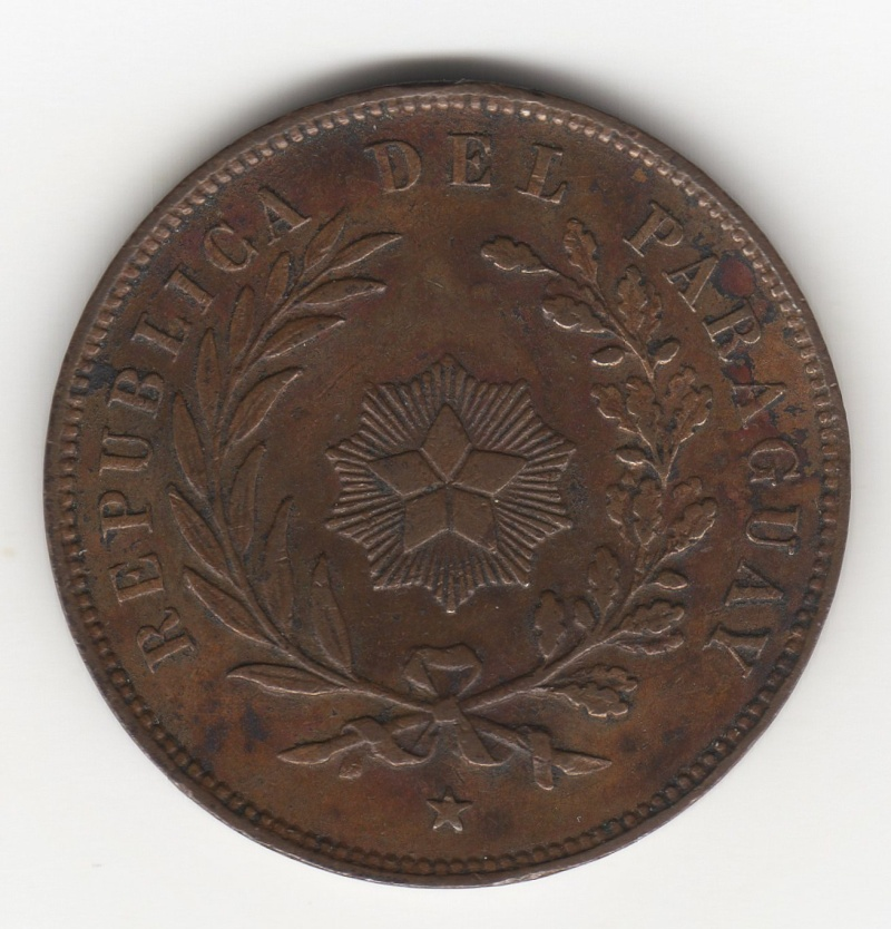 1 Centésimo. Paraguay. 1870. Birmingham 100_110