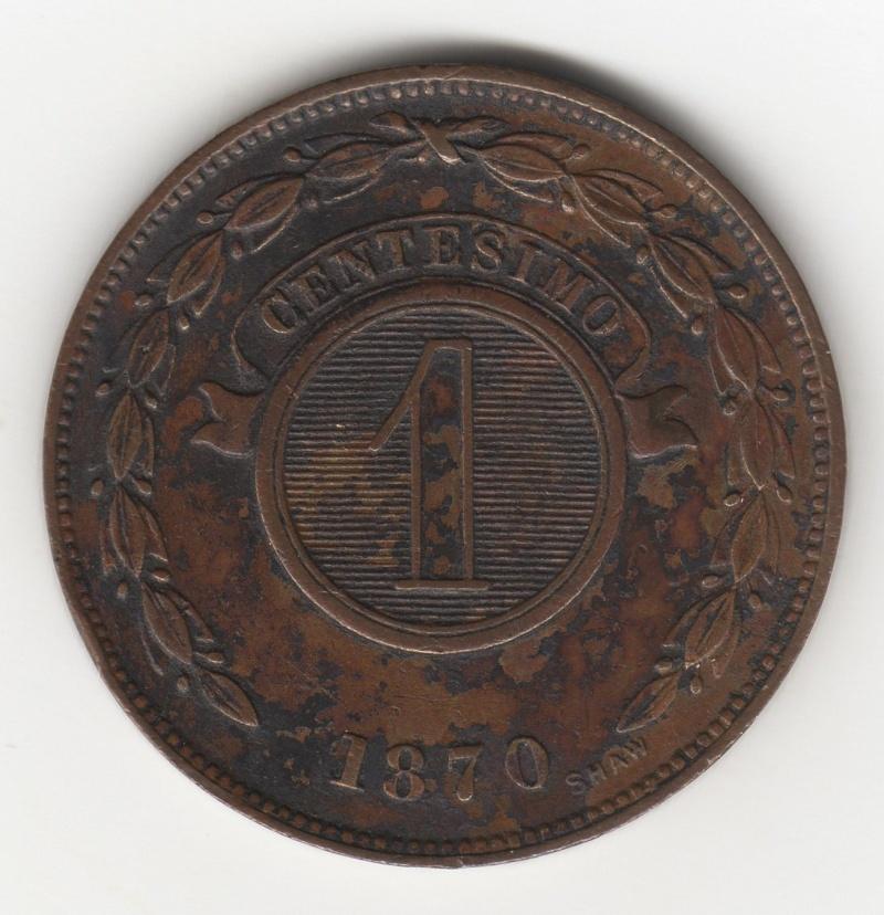 1 Centésimo. Paraguay. 1870. Birmingham 100_210