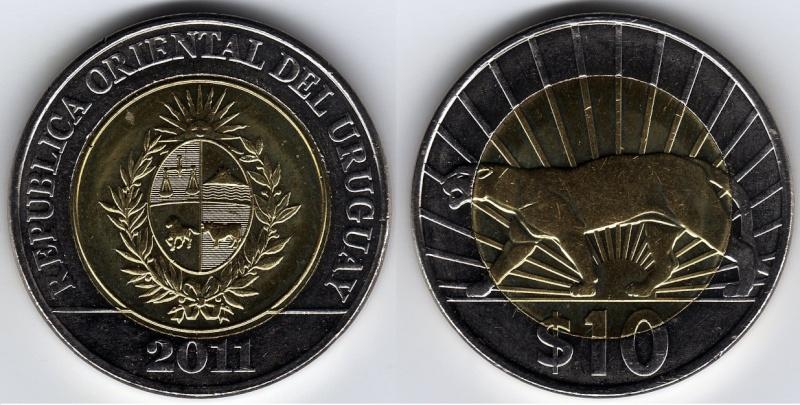 """Uruguay - 1942 - Un peso - """"El puma"""" 75777710"""