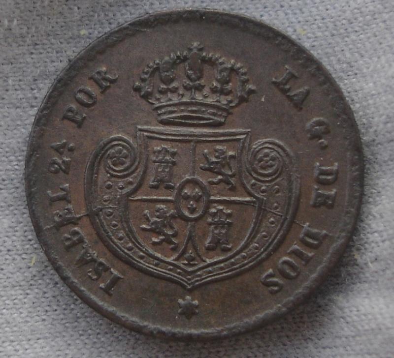 1/2 Decima de Real. Isabel II. 1853. Segovia Dsc00510