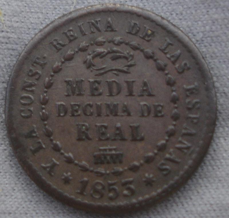 1/2 Decima de Real. Isabel II. 1853. Segovia Dsc00511