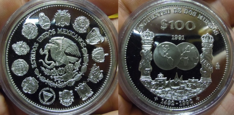 100 Pesos. México. I Serie Iberoamericana. 1991. Proof. Imgp6310