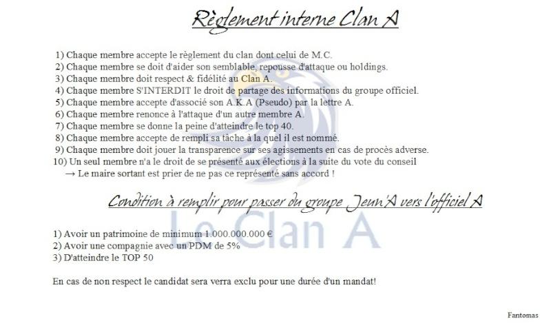 Règlement intérieur du clan A Lois_210