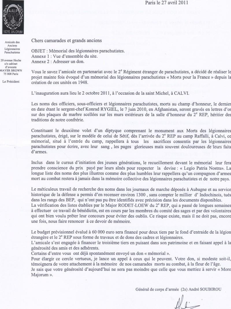 Appel aux dons mémorial legionnaires paras, 2 REP - Page 2 09-05-10