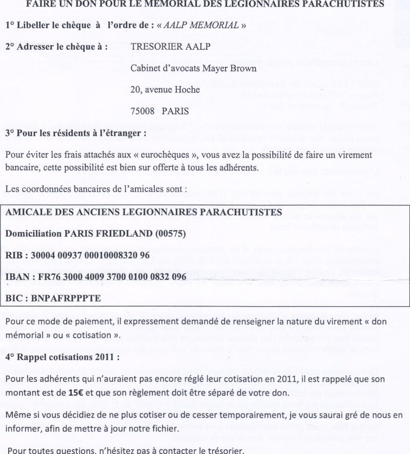 Appel aux dons mémorial legionnaires paras, 2 REP - Page 2 09-05-11