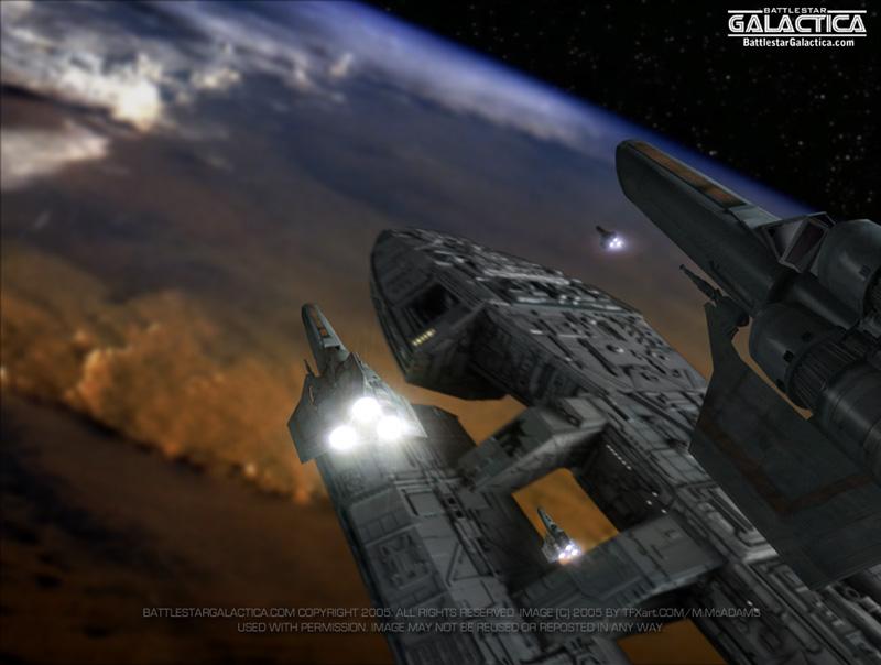 Galáctica estrella de combate (serie) Battle10