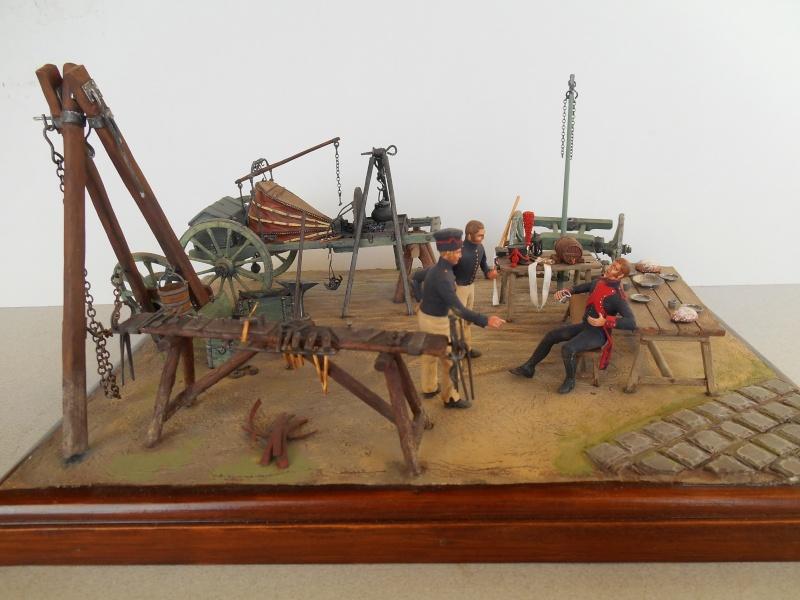 Bivouac d'ouvriers d'artillerie - Allemagne 1809 - Historex 1/32e Boar4010
