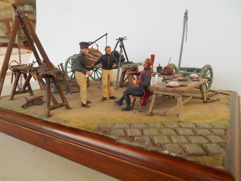 Bivouac d'ouvriers d'artillerie - Allemagne 1809 - Historex 1/32e Boar4011