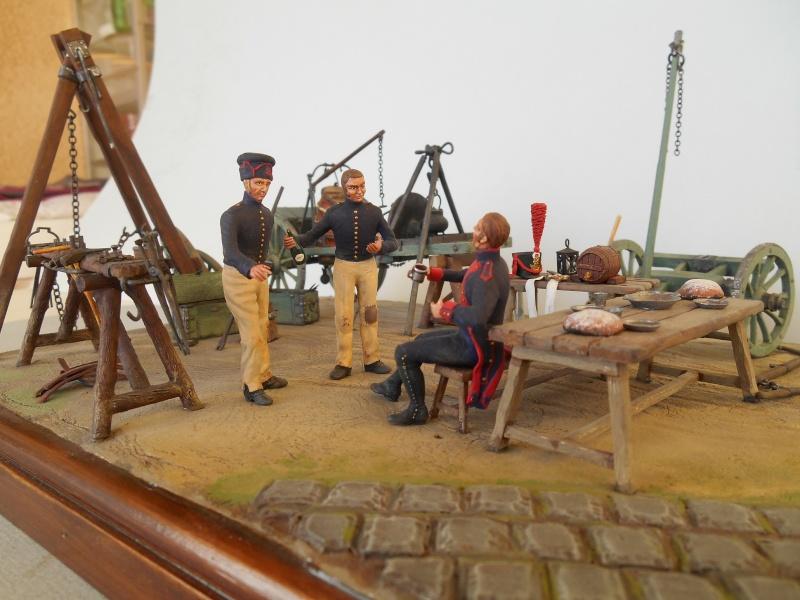Bivouac d'ouvriers d'artillerie - Allemagne 1809 - Historex 1/32e Boar4012
