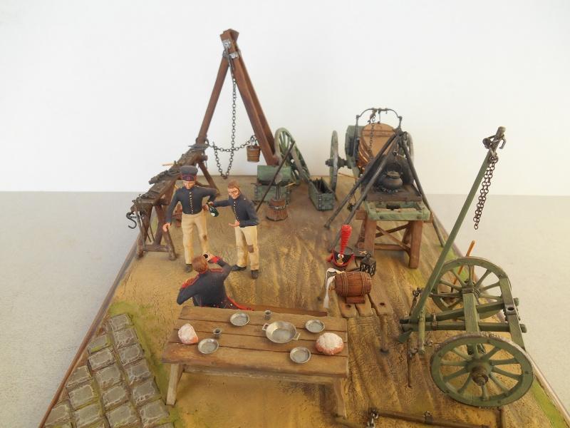 Bivouac d'ouvriers d'artillerie - Allemagne 1809 - Historex 1/32e Boar4015