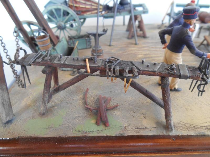 Bivouac d'ouvriers d'artillerie - Allemagne 1809 - Historex 1/32e Boar4017