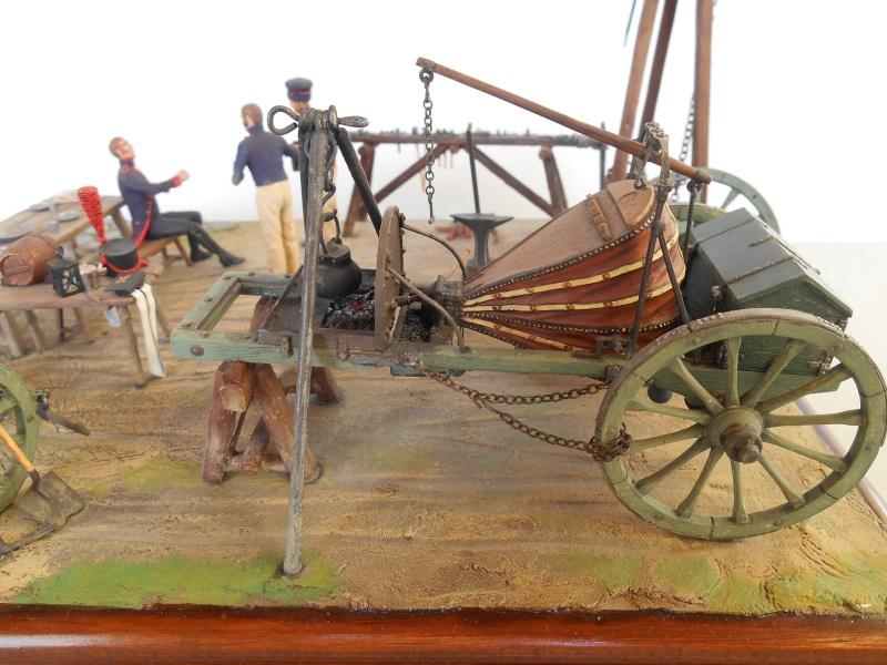 Bivouac d'ouvriers d'artillerie - Allemagne 1809 - Historex 1/32e Boar4018