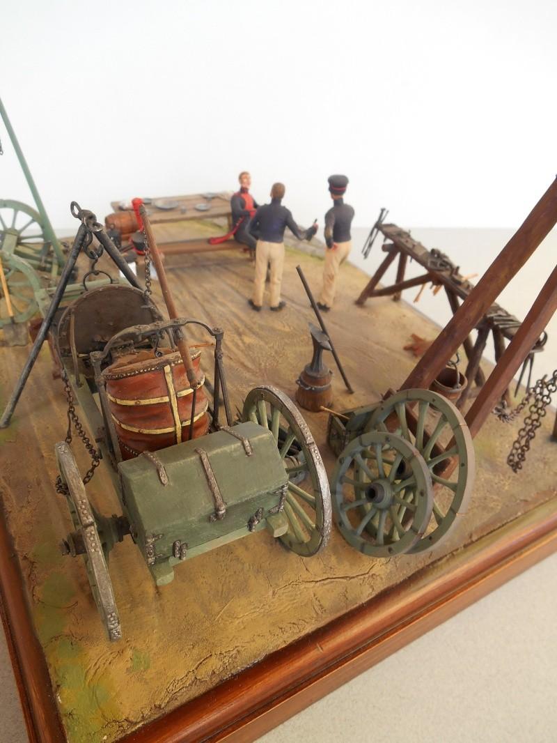 Bivouac d'ouvriers d'artillerie - Allemagne 1809 - Historex 1/32e Boar4019