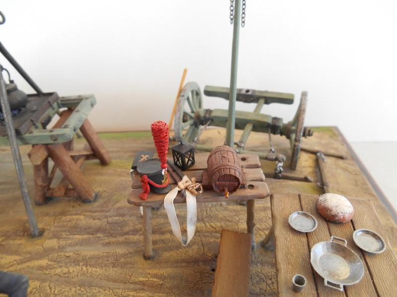 Bivouac d'ouvriers d'artillerie - Allemagne 1809 - Historex 1/32e Boar4021
