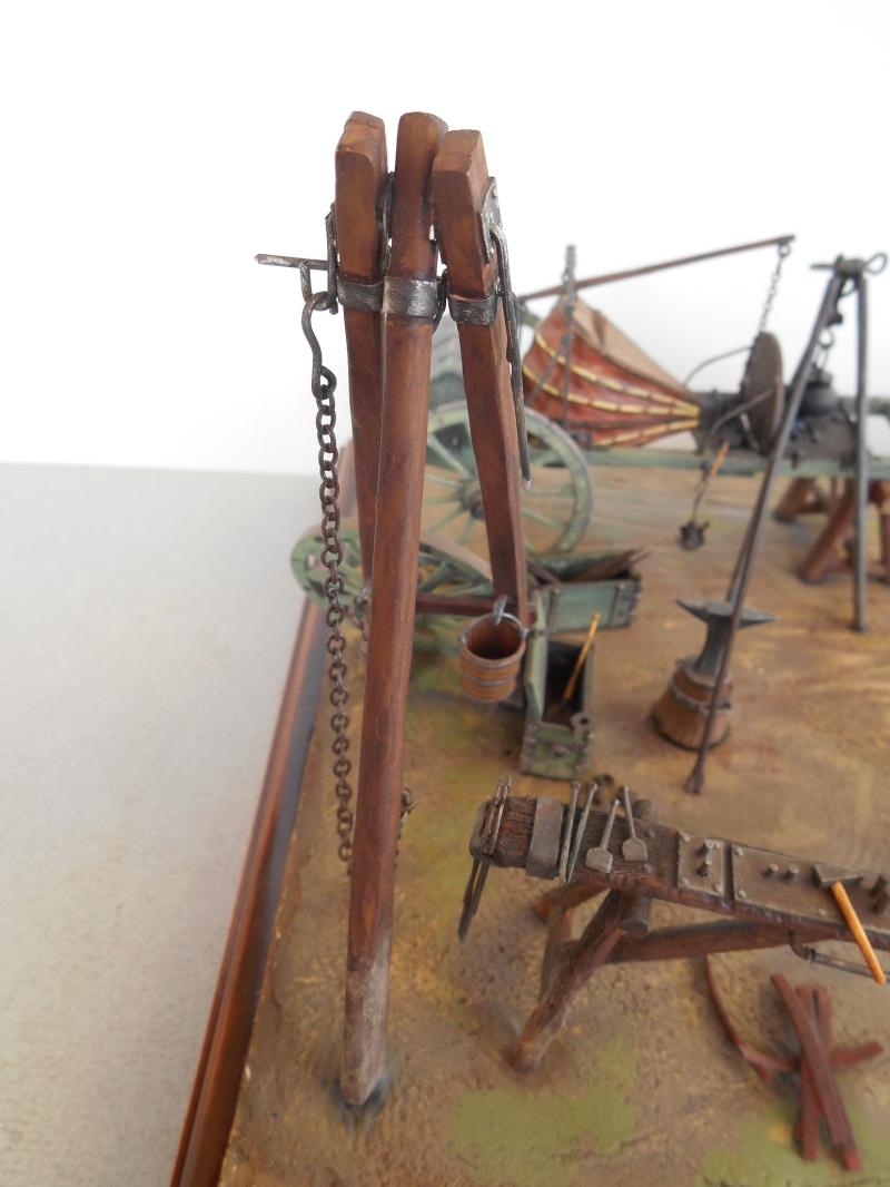 Bivouac d'ouvriers d'artillerie - Allemagne 1809 - Historex 1/32e Boar4023