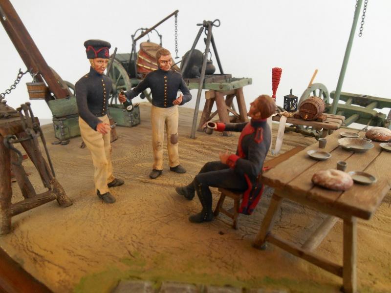 Bivouac d'ouvriers d'artillerie - Allemagne 1809 - Historex 1/32e Boar4024