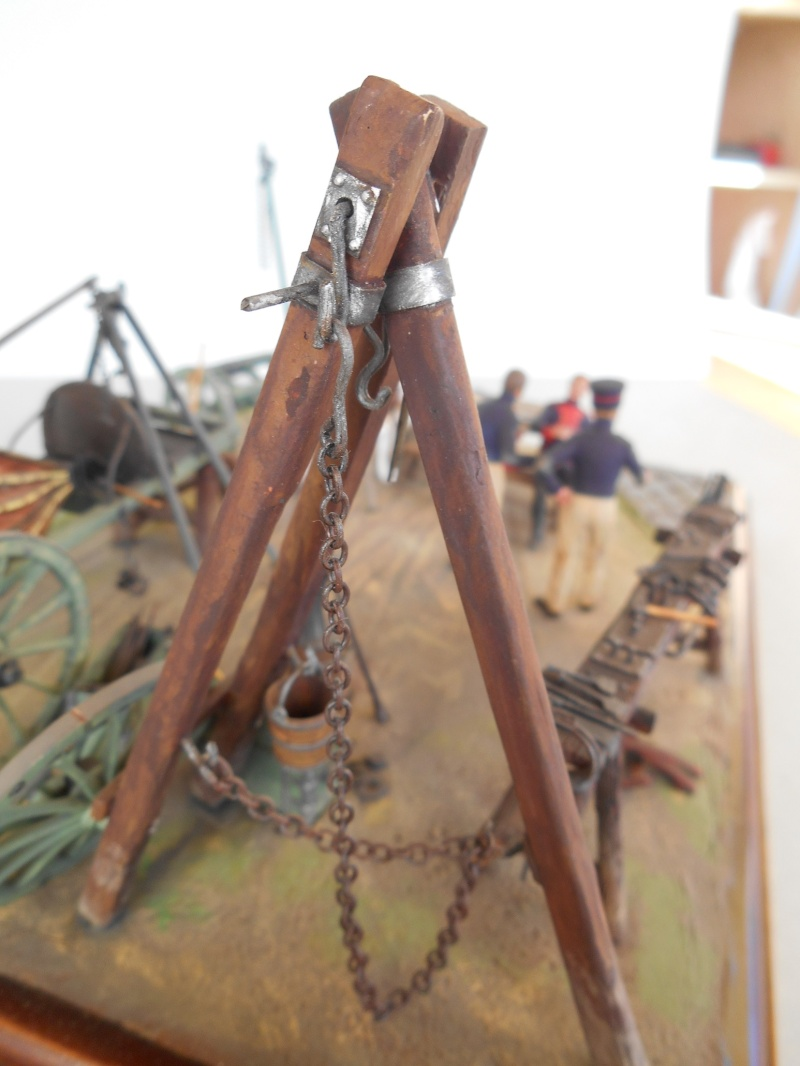 Bivouac d'ouvriers d'artillerie - Allemagne 1809 - Historex 1/32e Boar4025