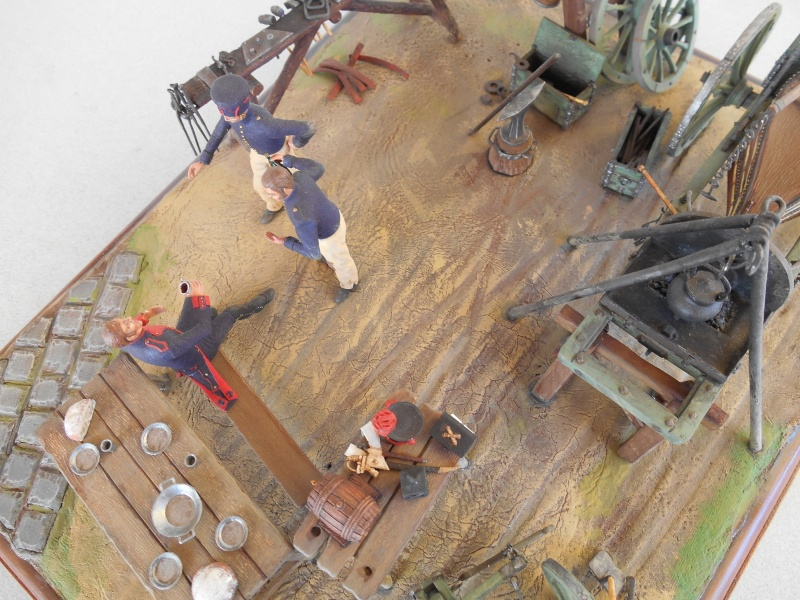 Bivouac d'ouvriers d'artillerie - Allemagne 1809 - Historex 1/32e Boar4028
