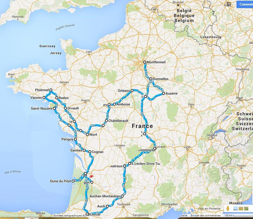 3 000 km en SoulEV en une semaine  Map_to10
