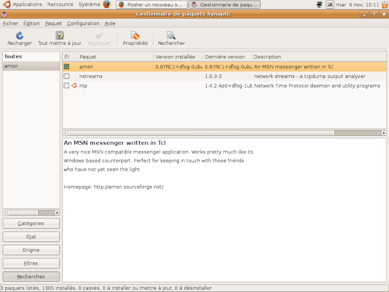 aMSN, Un clone libre de Windows Live Messenger Captur11