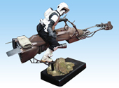 Gentle Giant - Scout Trooper on Speeder Bike Diorama Biker110