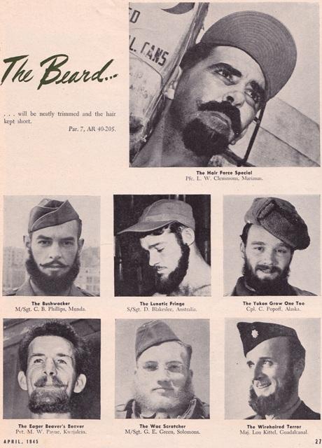 BARBES ET MOUSTACHES US WW2 Barbe011