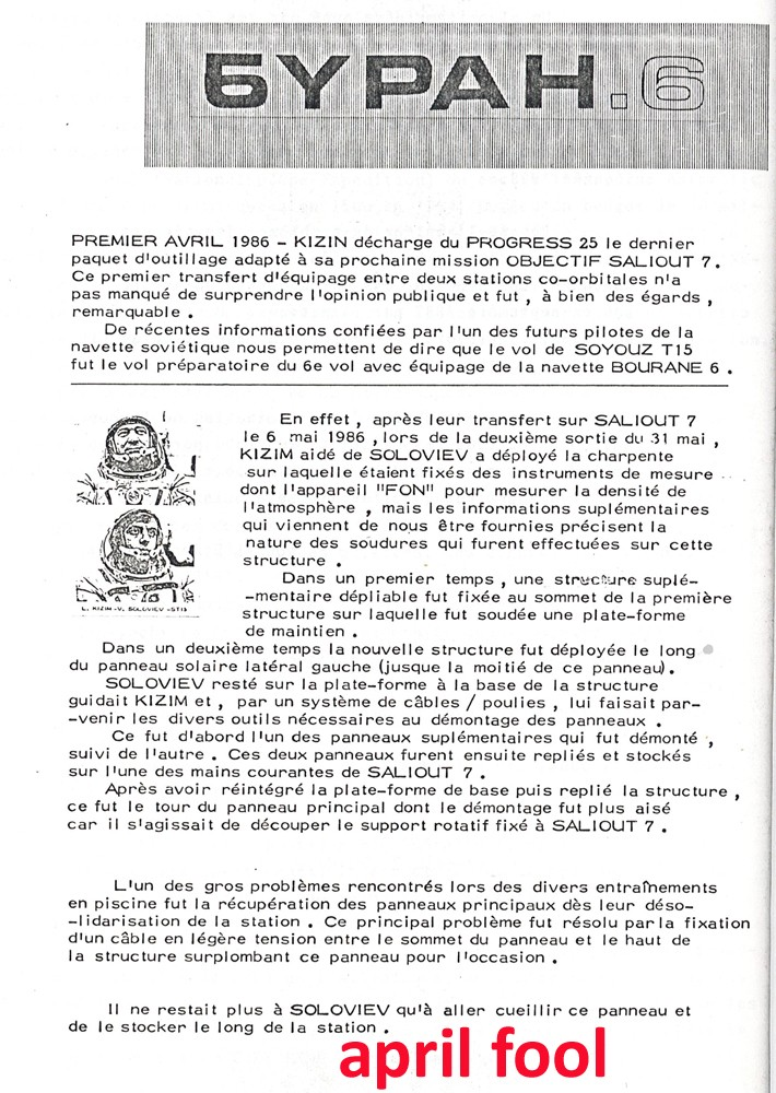Mockumentaire sur la capture de Saliout-7 par les USA en 1985 110011