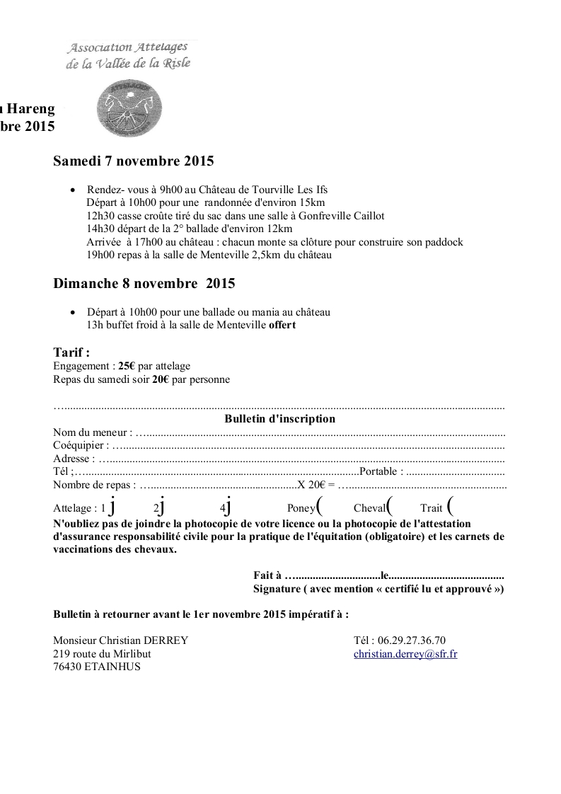 """7 et 8 Novembre 2015 - Restitution de 12ème édition de """"La route du Hareng"""" avec la vidéo et des photos ! 12_edi10"""