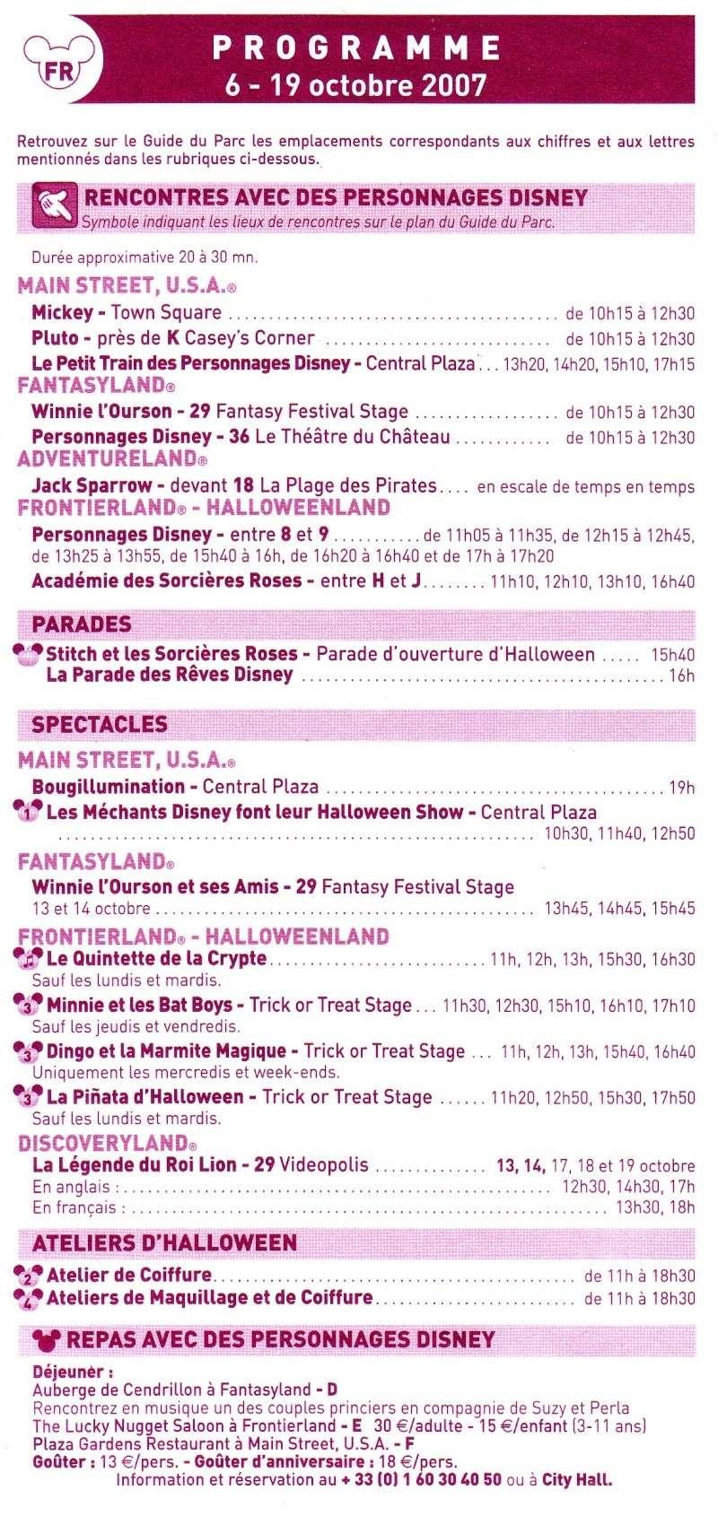 [Horaires] Horaires des parcs, spectacles et parades (programme à télécharger) Progra10