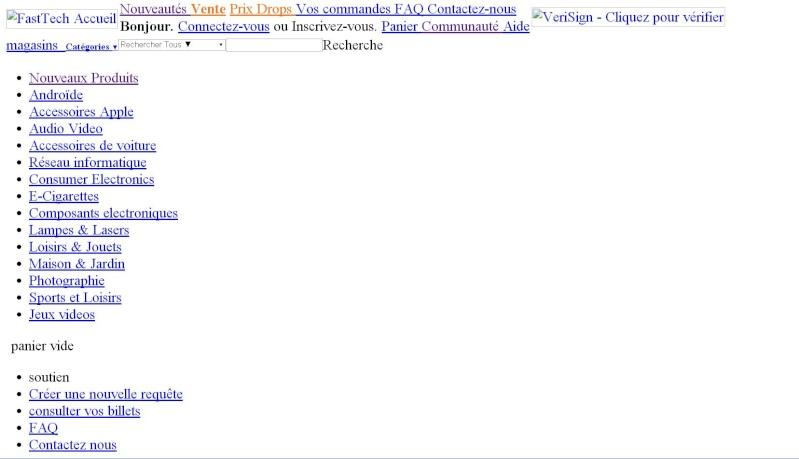 problème de page sur fasttech.com Screen11