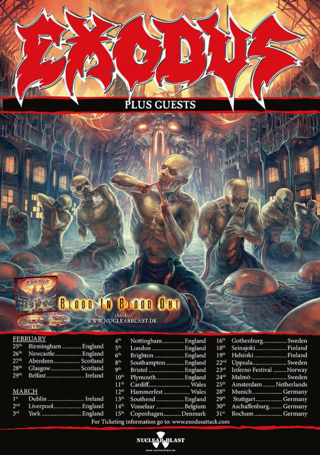 "EXODUS  ""Blood In, Blood Out""  (OCT  2014)  605310"
