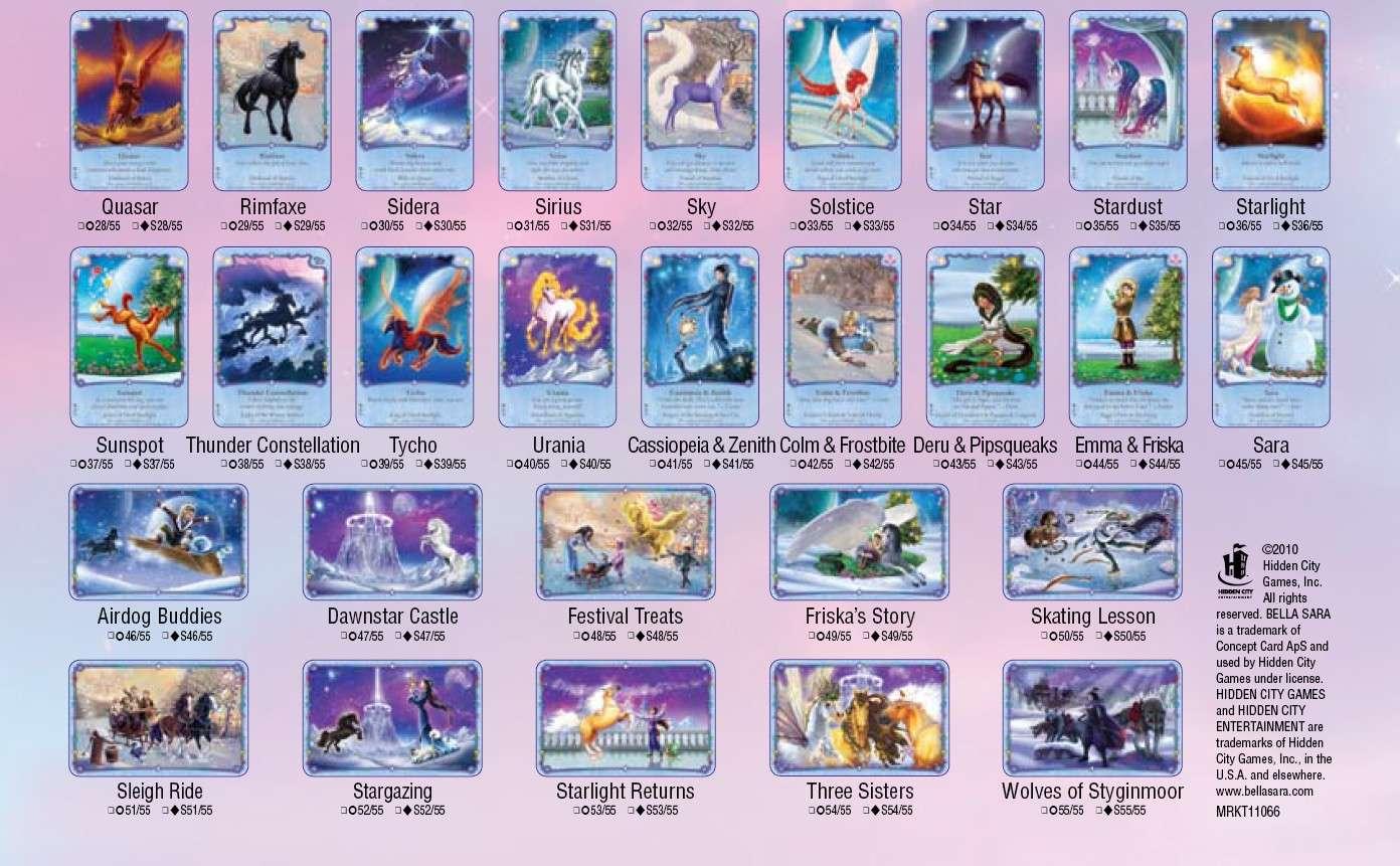 La totalité des cartes Bellasara Starlight Starli17