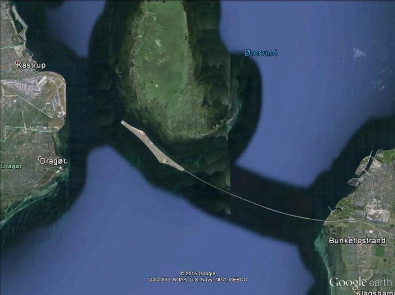 L'Øresundsbron Pont tunnel entre la Suède et le Danemark. Pont_t10