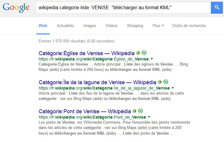 KML de Wikipedia : Listes et Catégories Captur13
