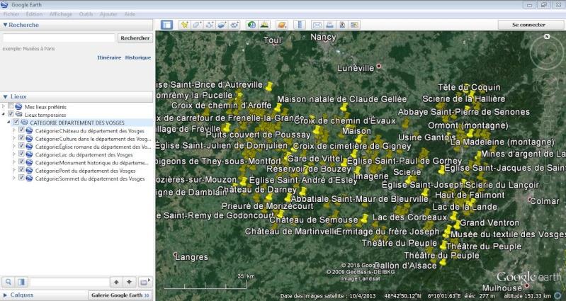 KML de Wikipedia : Listes et Catégories Captur15