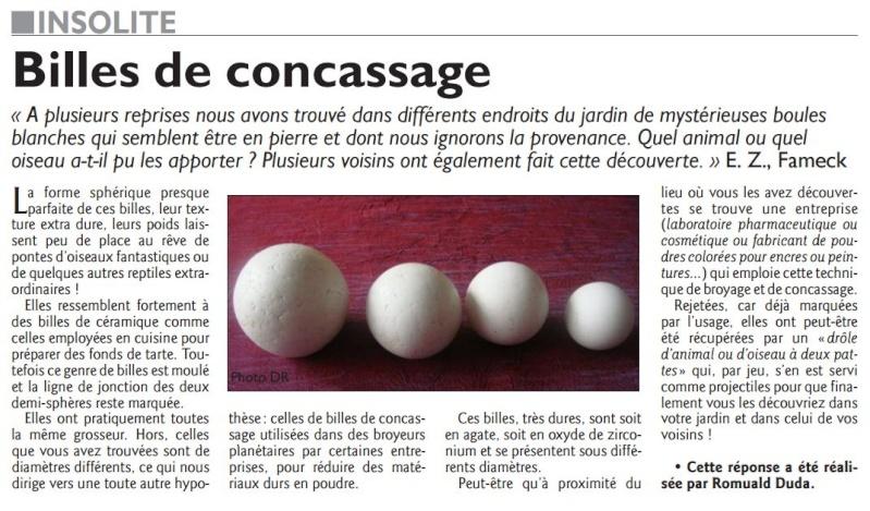 """""""Une hantise de boule lumineuses"""" Par Fernand Lagarde - Page 3 Billes10"""