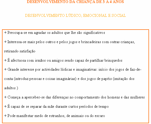 CRIANÇA DE 3 A 4 ANOS - LÚDICO, EMOCIONAL E SOCIAL Ludico10