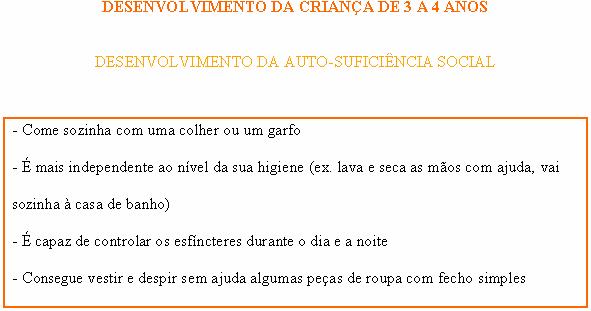 CRIANÇA DE 3 A 4 ANOS - AUTO-SUFICIÊNCIA SOCIAL Social10